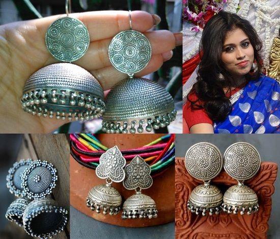 10 Beautiful Sterling Silver Jhumka Designs