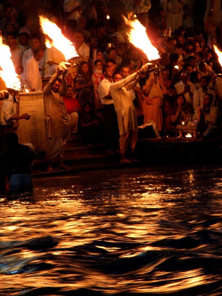 Evening Aarti . Har Ki Pauri Ghat . Ganges . Haridwar ...