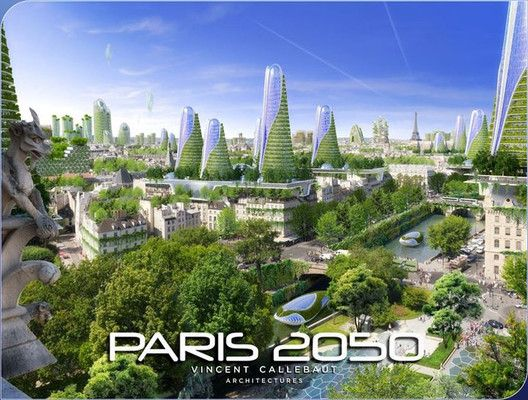 "Vincent Callebaut's 2050 Vision of Paris as a ""Smart City"",Courtesy of Vincent Callebaut Architecture"