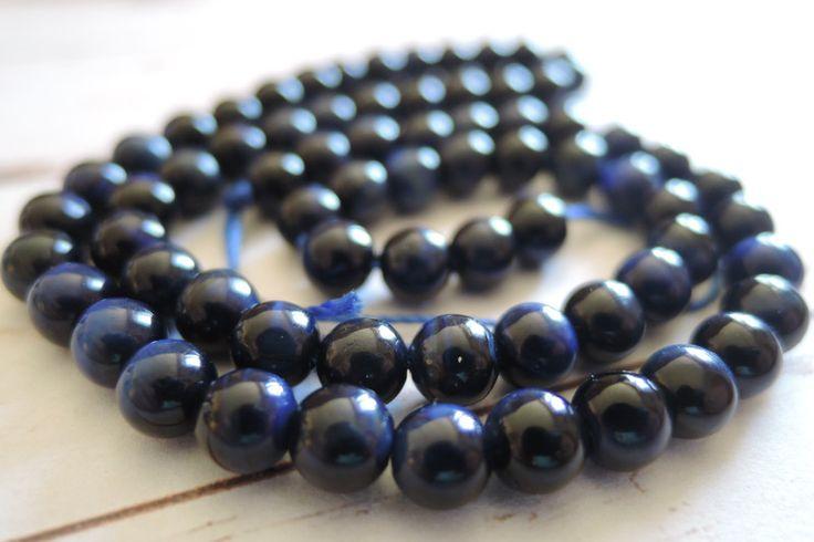Lavakralen & -stenen - Tiger Eye Beads, Edelsteen Kralen, Ronde Blauwe Kr - Een uniek product van francois2017 op DaWanda