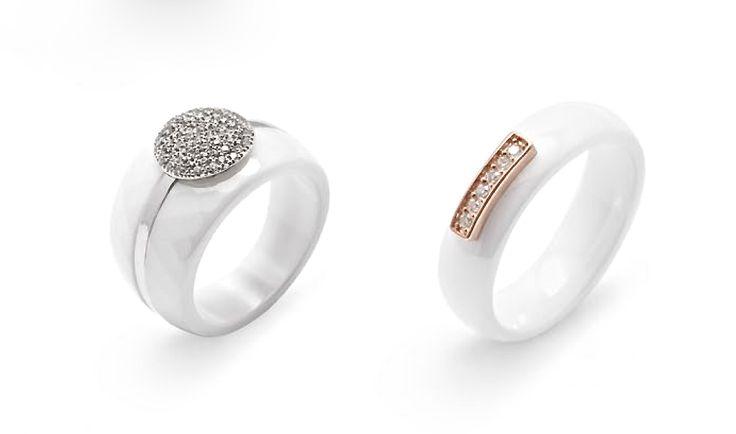 ¿Quieres algo diferente y exclusivo? estos #anillos de #cerámica, #plata, #circonitas y baño de #OroRosa es lo que estabas buscando, ¿a qué esperas?