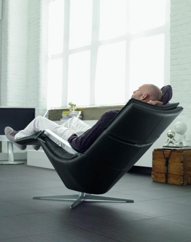 Contemporary black recliner chair by Rolf Benz : modern style recliner chairs - islam-shia.org