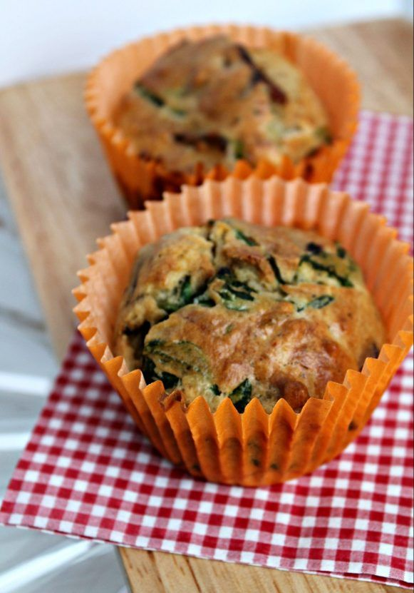 Lunch Box Favourite: Brie & Spinach Muffins