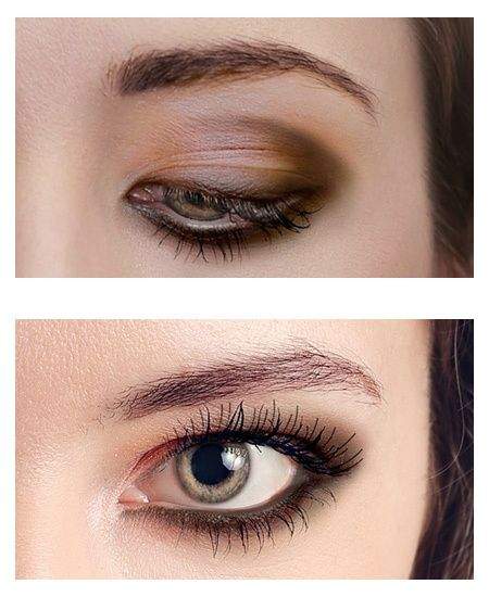 how to put eye makeup on round eyes