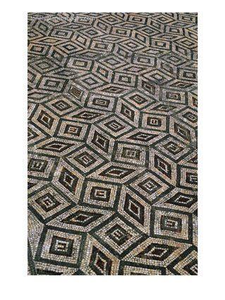 Mosaic Floor In Roman Ruins, Conimbriga, Portugal