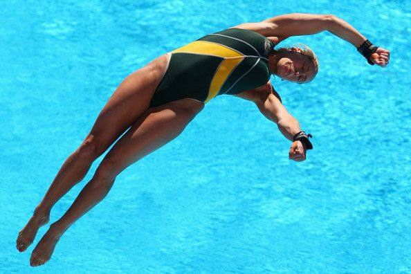 Alexandra Croak of Australia competes in the 1m Womens Springboad Diving at the Stadio del Nuoto on July 19, 2009 in Rome, Italy.