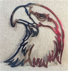 Back 40 Metal Worx American Bald Eagle Head Plasma Cut Metal Wall Art
