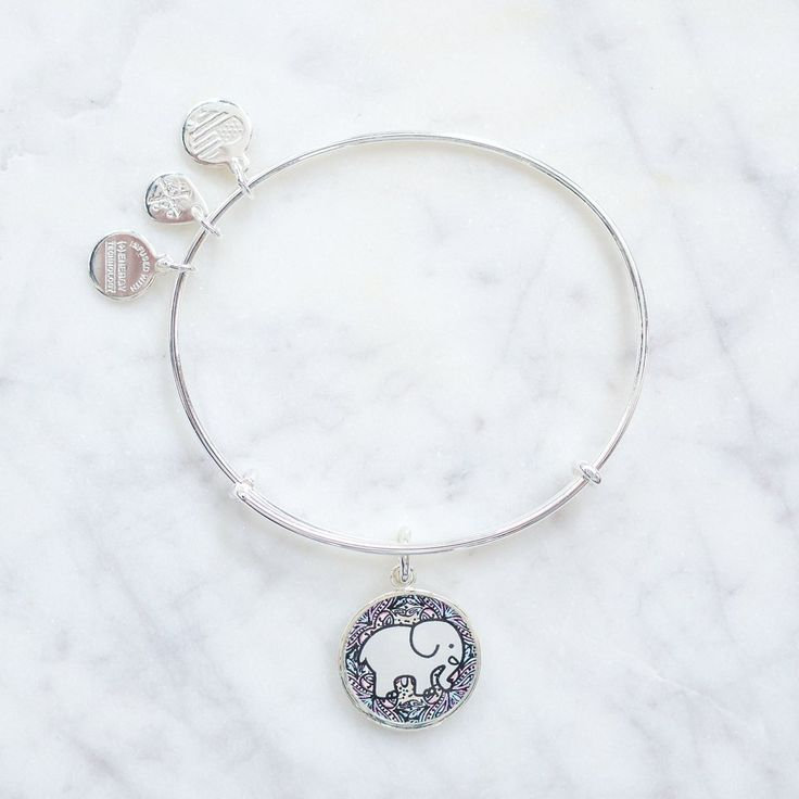 ALEX AND ANI Rosemale Silver Charm Bracelet