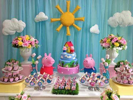 Como Fazer Decoração de Festa Peppa Pig Simples e Provençal