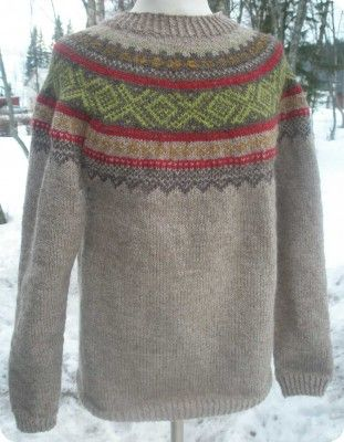 genser med uvanlige farger - kul!