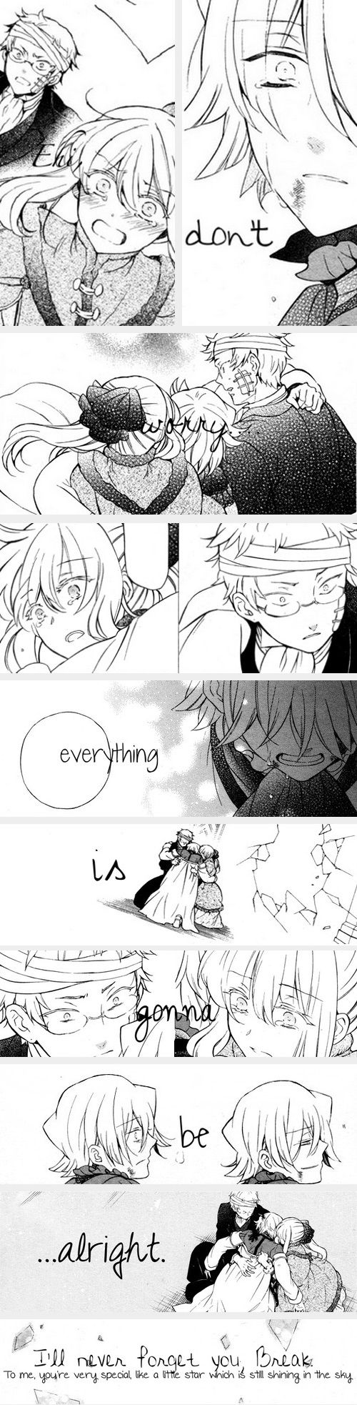 """""""Don't worry; everything is gonna be alright."""" 