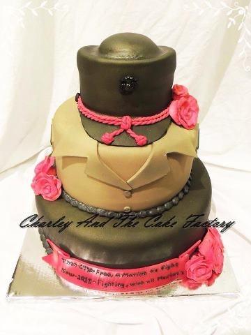 Women Marine USMC Cake! I wish I knew who made it, but it's spot on GORGEOUS!