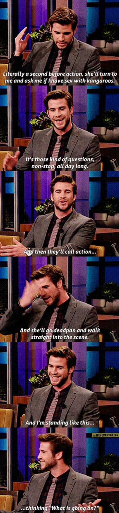 Liam Hemsworth on working with Jennifer Lawrence…