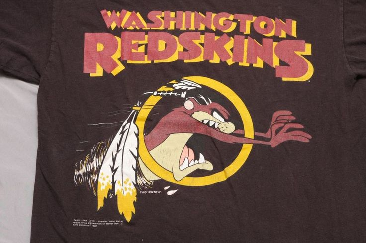 Vintage Washington Redskins TAZ 1992 L T-Shirt NFL Football looney tunes  #sun #GraphicTee