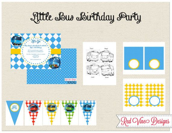 Little Bus Party Printables