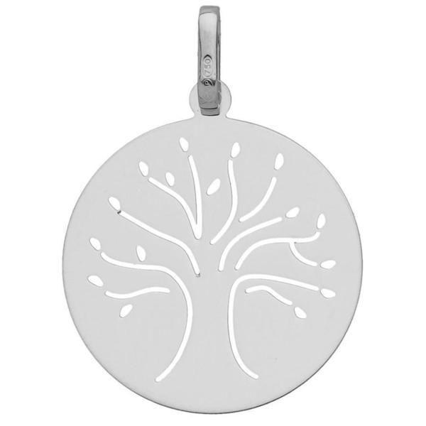Médaille Arbre de vie ajourée (or blanc 18ct) (Mon Premier Bijou) sur PremierCadeau.com