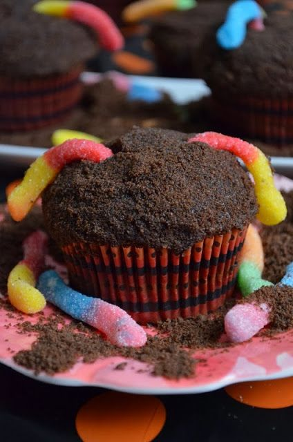 Dirt Cupcakes filled w/ Chocolate Mousse Recipe