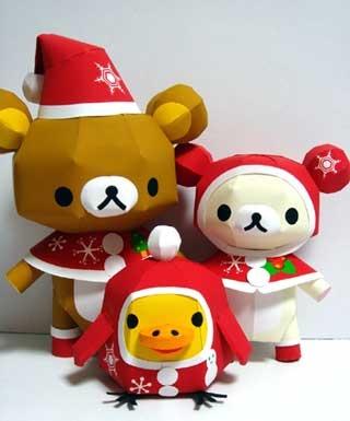 Make this Christmas Rilakkuma Paper Craft