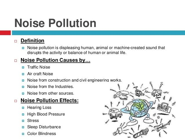 Image Result For Noise Pollution Causes Effects Of Water