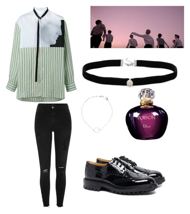 """""""#bts #foreveryoung"""" by stacyk01 on Polyvore featuring мода, Raf Simons, River Island, Tricker's, Amanda Rose Collection и Christian Dior"""