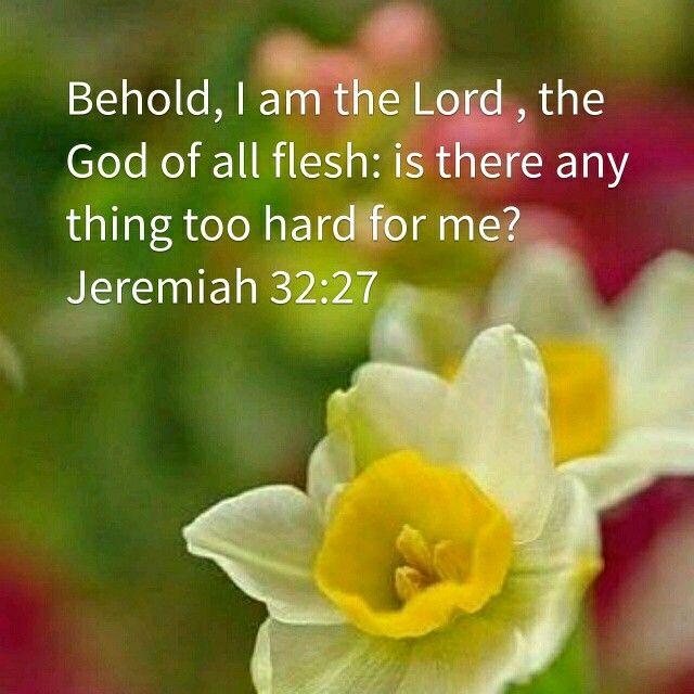 Jeremiah 32:27 KJV