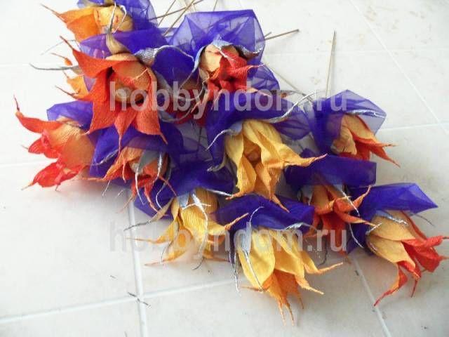 Физалис из конфет - Цветы из конфет - Поделки из конфет - Каталог статей - Рукодел.TV