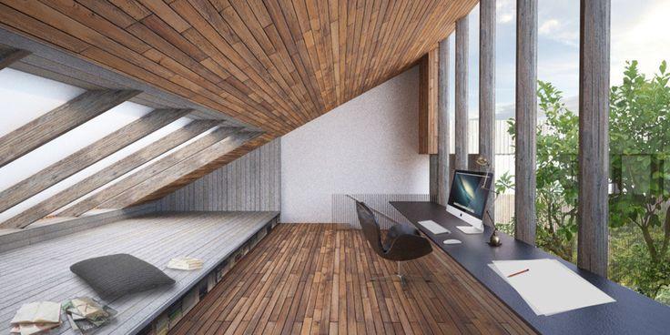 Ciemne drewno, drewno na ścianach, drewniana podłoga, drewno na suficie. Zobacz więcej na: https://www.homify.pl/katalogi-inspiracji/15245/trendy-drewno-w-roli-glownej