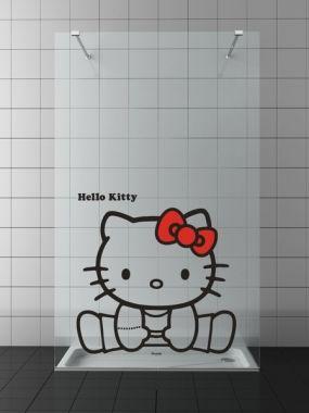 Paroi de douche HELLO KITTY RIBBON | Accessoires Hello Kitty et Salle de bain