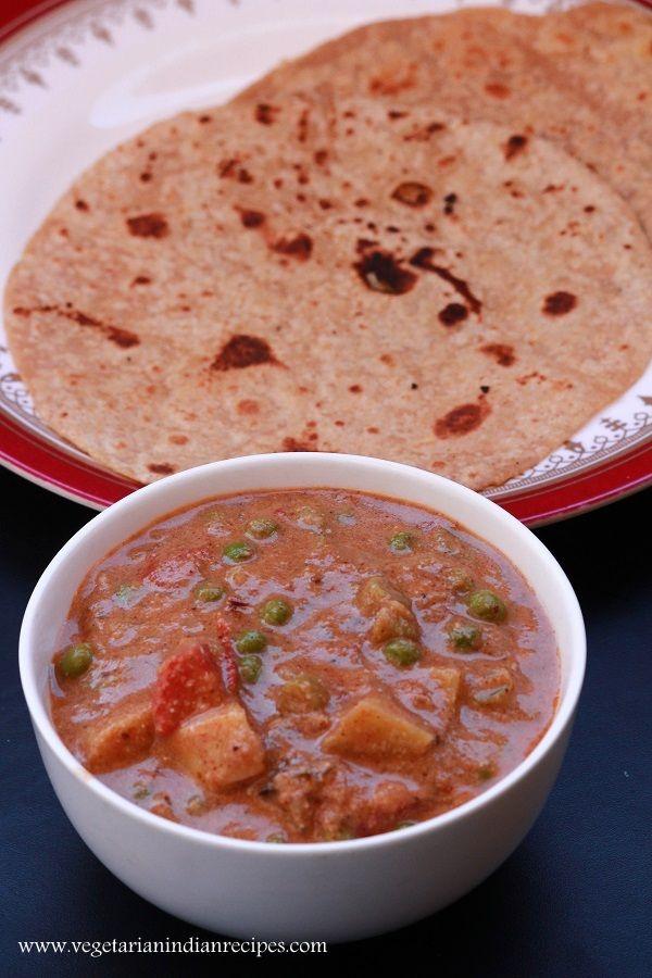 Hotel style veg kurma recipe - tasty side dish for chapati, roti, naan. #indianfood #food #vegetarian #recipe