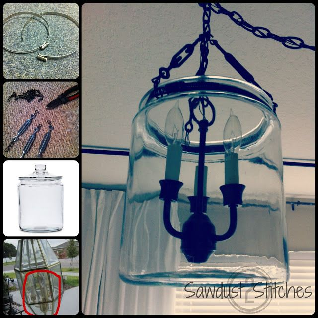 Sawdust and Stitches: Pottery Barn Inspired Chandelier