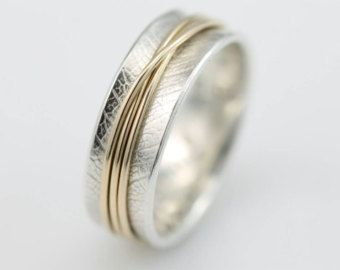 Narrow Hammered Spinner Ring Spinner Ring by stonesthrowjewelry