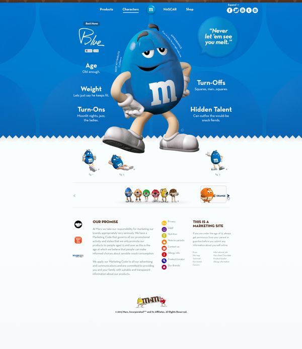 Snickers, M&Ms, and Twix by Josh Rhode, via Behance