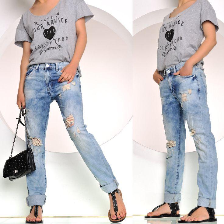 Derzeit voll im #Trend sind diese #Boyfriend #Jeans Hosen für Damen. Lässiger, weiter Schnitt kombiniert mit vielen authentischen Used-Stellen. Top! #eBay #Vintage
