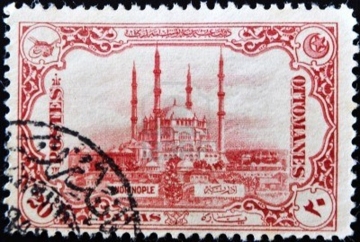A stamp printed in Turkey shows the mosque of St. Sofia, circa 1914