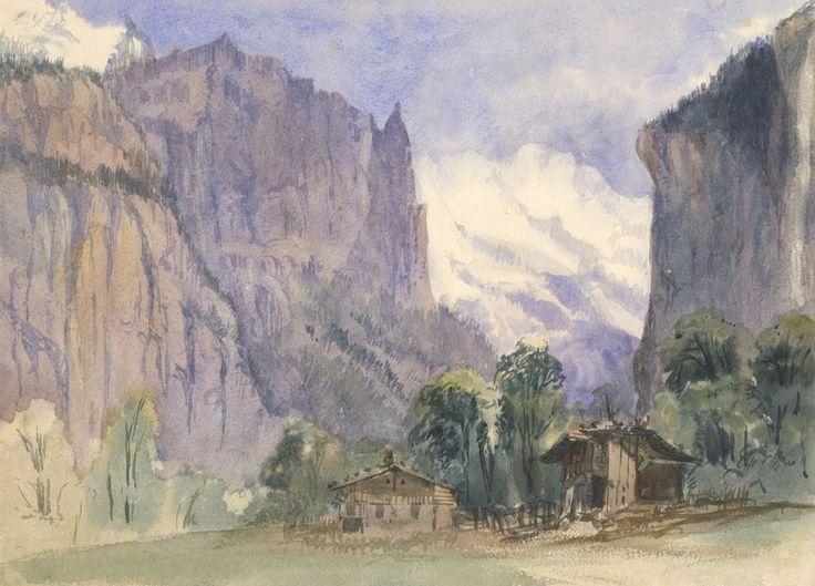 English School - Lauterbrunnen, Switzerland, 1870 Watercolour