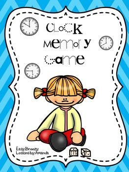This is a memory game where students will match analogue clocks to the correct digital times. This is a great center game for your students. The clocks include times that are on the hour, half hour, and continue all the way to 5 minute intervals. I hope this works well for you in your classroom!