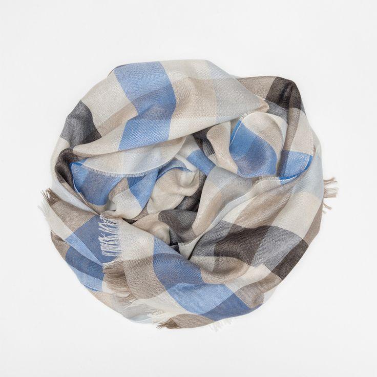 #echarpe #carreaux #blue #cachemire #soie #madeinfrance #madeinitaly #luxe #atelierparticulier