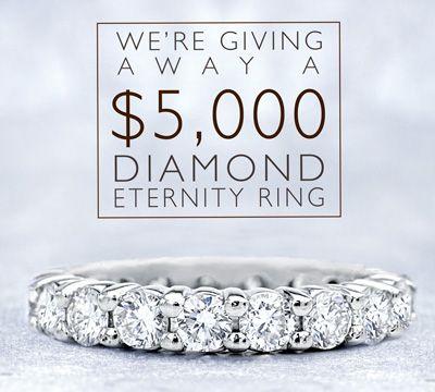 Enter to Win a $5,000 Diamond Eternity Band!