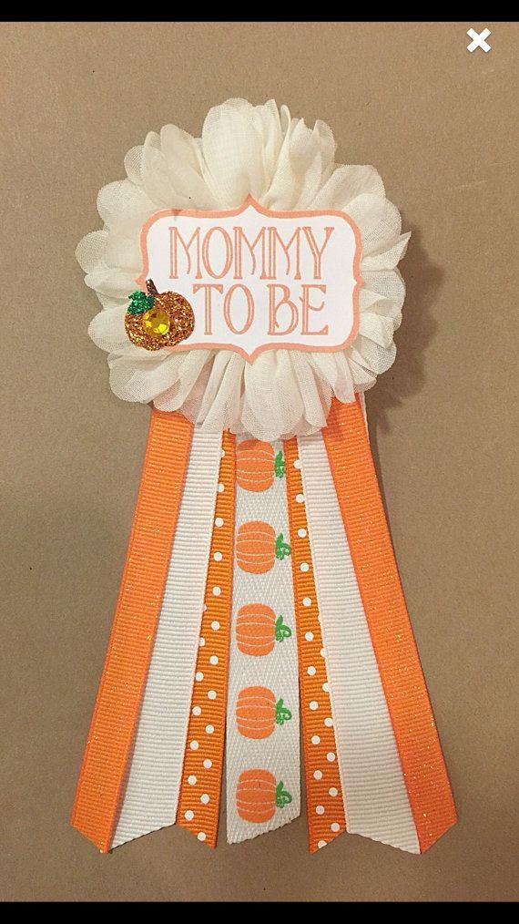 Babydouche Little Pumpkin Neutrale douche mama als pin babydouche pin Lint Pin Corsage Glitter Moeder Nieuwe moeder Het is een jongen het is een meisje