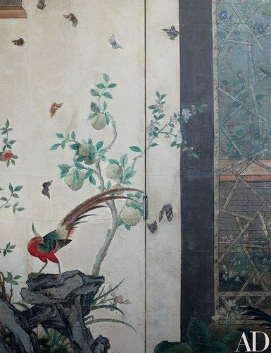 Detail of the wallpaper | archdigest.com