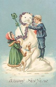 A happy New Year to one and all! #vintage #New_Years #card