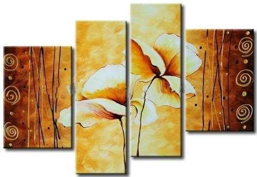 Cuadros Modernos Abstractos Tripticos Texturados - $ 559,99 en ...