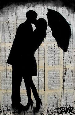 "Saatchi Online Artist Loui Jover; Drawing, ""rainy day romantics"" #art"