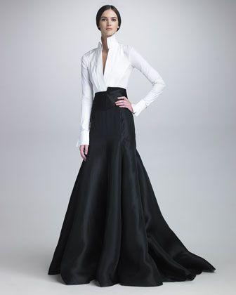Long Gazar Evening Skirt by Donna Karan at Neiman Marcus.