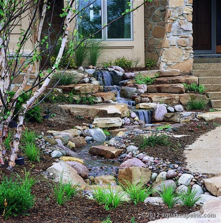 Small Garden Ponds And Waterfalls: 90 Best Pondless Water Features Images On Pinterest