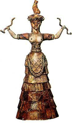 snake goddess knossos 1600BC heraklion museum