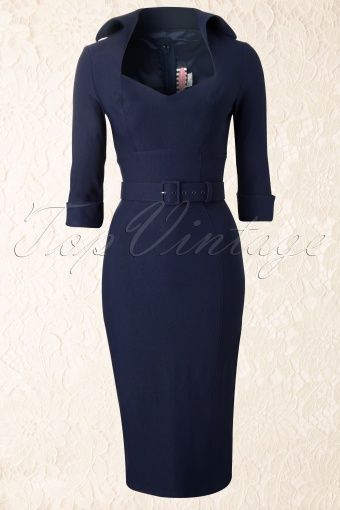 Pinup Couture - 50s Lorelei Dress Marilyn Monroe in Navy