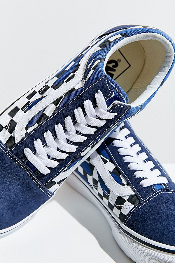 7aaf476364 Vans Old Skool Checkerboard Flame Sneaker
