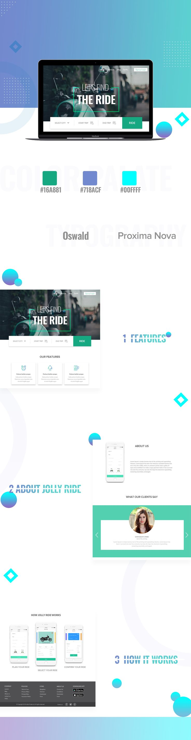 """Check out this @Behance project: """"Bike Rental Website"""" https://www.behance.net/gallery/62029579/Bike-Rental-Website"""