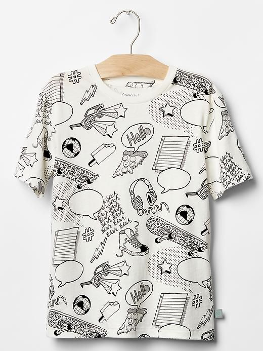 Graphic tee.